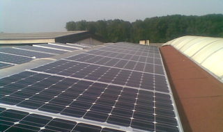 Impianto fotovoltaico realizzato su tetto a volta