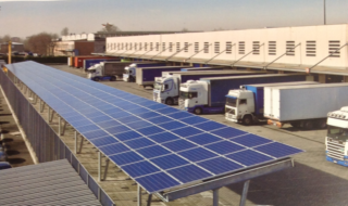 Impianto fotovoltaico su pensilina
